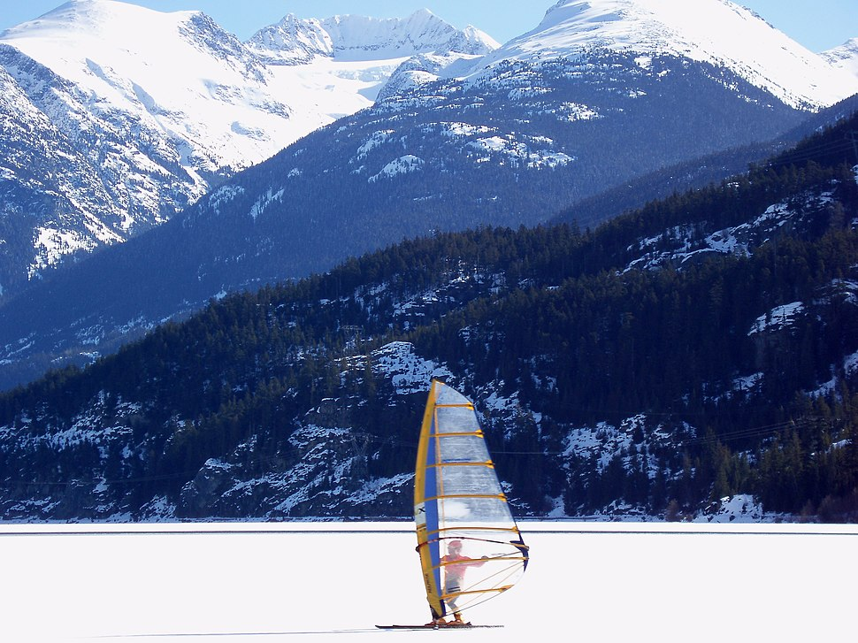 Whistler ice sailor