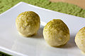 White chocolate matcha truffles (5182731565).jpg