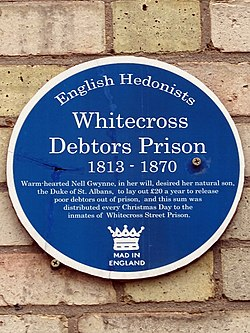 Whitecross debtors prison 1813   1870