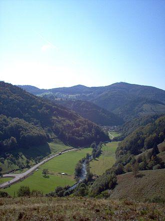 Wiesental, Black Forest - View over the Wiesental, near Zell im Wiesental
