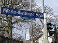 Wilhelm-Hasselmann-Straße, Celle, Wilhelm Hasselmann, Bürgermeister der Gemeinde Westercelle von 1955 bis zur Eingemeindung 1972, Haltestelle Schützenhaus Westercelle, Westerceller Straße.jpg