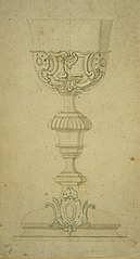 Chalice with Rococo decoration and stem in Louis XVI style