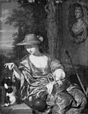 Willem van Mieris - A Shepherdess with a Dog - KMSst171 - Statens Museum for Kunst.jpg
