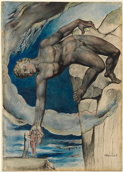 File:William Blake - Antaeus setting down Dante and Virgil in the Last Circle of Hell - Google Art Project.jpg
