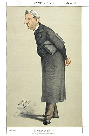 "William Monsell, 1st Baron Emly - ""The painstaking Irishman"" As depicted by ""Ape"" (Carlo Pellegrini) in Vanity Fair, 11 February 1871"