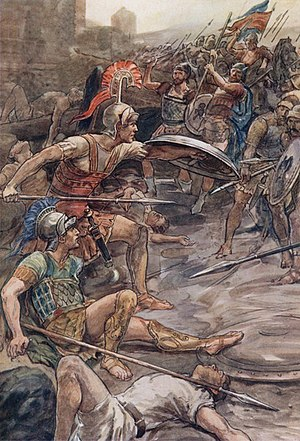 Boeotian War - William Rainey, Epaminondas defending Pelopidas