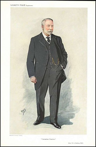 William Stevens Fielding - Fielding caricatured by WHO for Vanity Fair, 1909