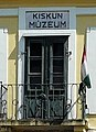 Window and Hungarian flag, Kiskun Muzeum1.jpg