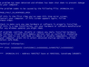 MS blue screen of death, via wikipedia.