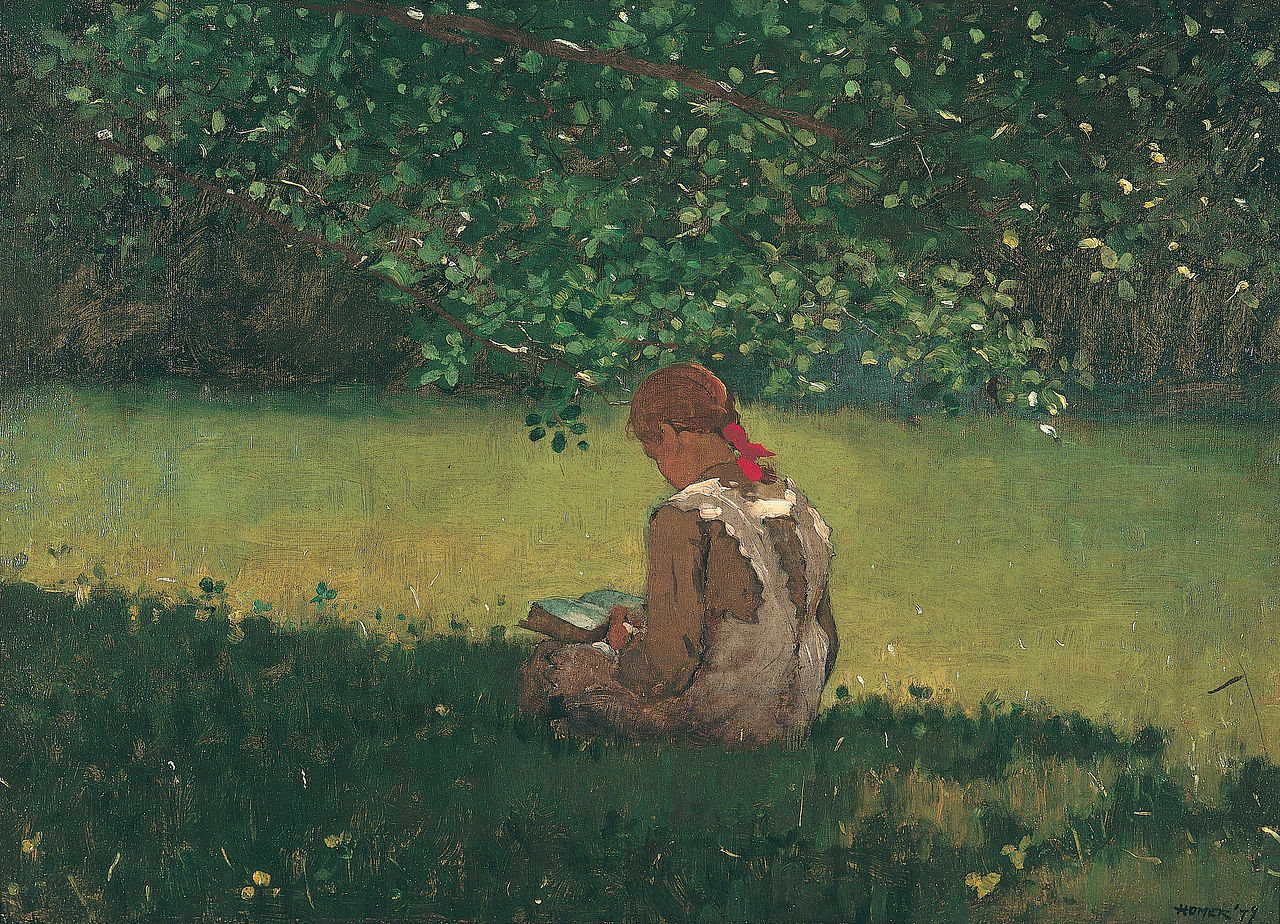 Winslow Homer, Reading by the Brook, 1879. Oil on canvas. Memphis Brooks Museum of Art, Memphis,.jpg