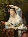 Winterhalter - Porträt einer jungen Frau in einer Weinlaube, 1851.jpg