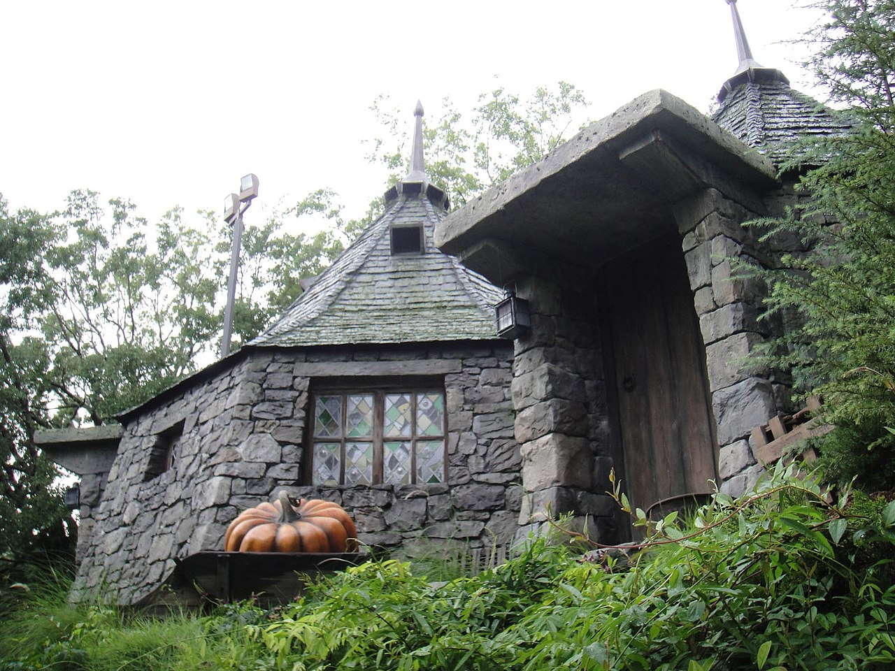 File wizarding world of harry potter hagrid 39 s hut What house was hagrid in