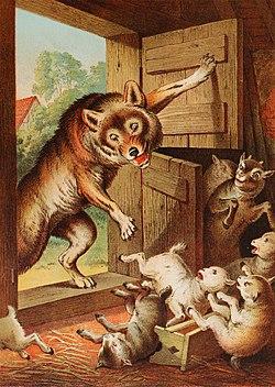 text:kinder- und hausmärchen/der wolf und die sieben jungen geißlein - alemannische wikipedia