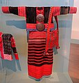 Woman's clothing, Lahu Nyi people, with shoulder bag, Lahu Na people, Northern Thailand, collected in 1986 - Ethnological Museum, Berlin - DSC01410.JPG