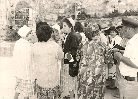 Women of the Wall talking with Kotel women.jpg