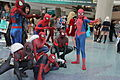 Wondercon 2016 - Spider-Men Group Cosplay (26080886075).jpg