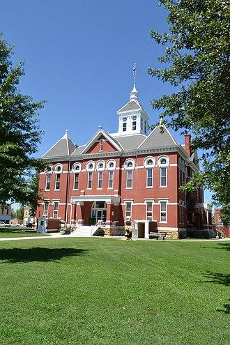 Woodson County, Kansas - Image: Woodson County Courthouse, Yates Center, KS