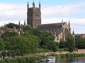 Worcester Cathedral from the Town Bridge.jpg