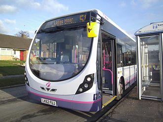 Wright StreetLite - First South Yorkshire Door Forward StreetLite Max in August 2013