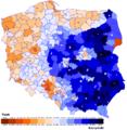 Wybory prezydenckie 2005 II tura mapa.png