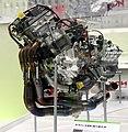 Yamaha YZR-M1 In-line 4-cylinder engine 2009 Tokyo Motor Show.jpg
