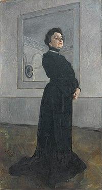 Портрет М. Н. Ермоловой. Валентин Серов (1905). Холст, масло.