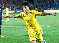 Yoo Byung-SooAugust 19, 2013 as part of FC Rostov in match of the Russian football championship of 2013.jpg