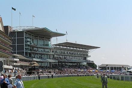 A view of the stands at York Racecourse York Racecourse - Stands.jpg