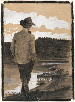 Young Man on a Riverbank MET DT6416