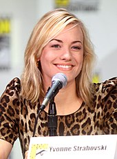 Yvonne Strahovski Wikipedia She has brown hair and eyebrows, blue eyes, and pink cheeks. yvonne strahovski wikipedia