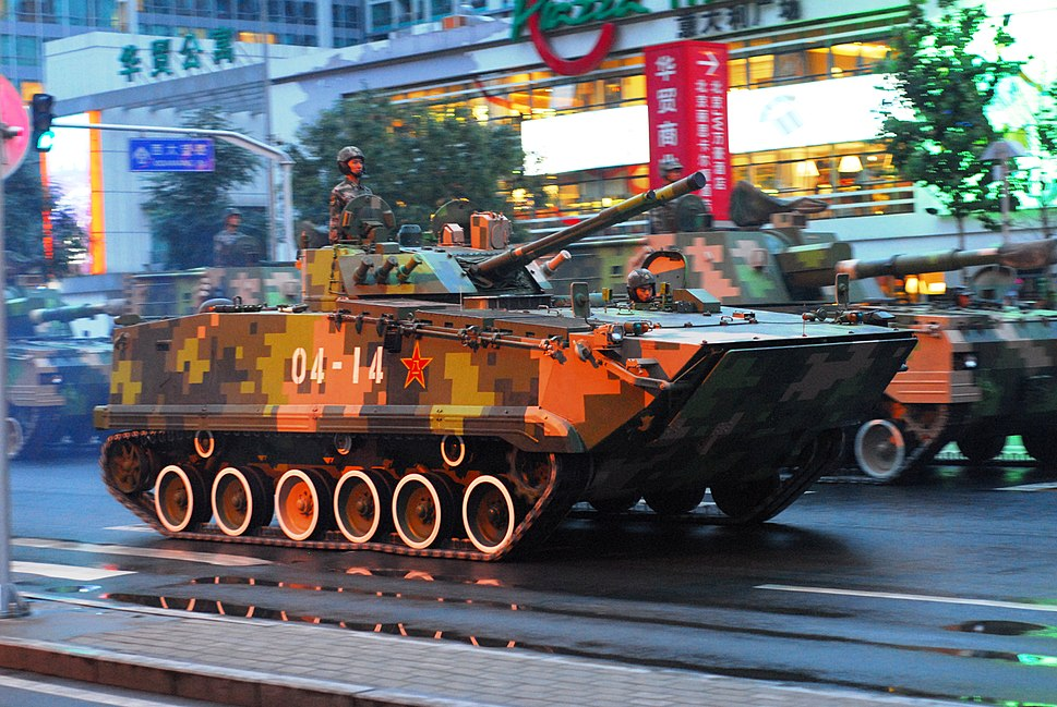 ZBD-04 Infantry fighting vehicle during an anniversary parade