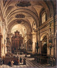 Interior of the Reformed Franciscan Church in Warsaw.