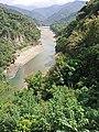 Zengwen River, upstream view from Dapu Bridge, as taken on 1st October 2020.jpg