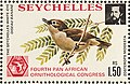 Zosterops modestus 1976 stamp of Seychelles.jpg