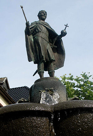 Zwentibold - Zwentibold fountain in Münstereifel