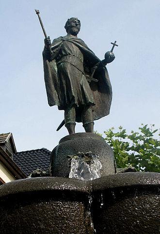 Zwentibold - Zwentibold fountain in Münstereifel