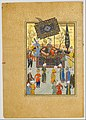 """Khusrau Seated on his Throne"", Folio 64 from a Khamsa (Quintet) of Nizami MET DP164639.jpg"