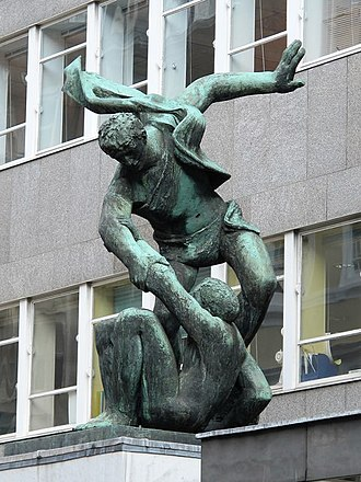 """Congress House - Image: """"The Spirit of Brotherhood"""", Congress House, Great Russell Street, WC1 (geograph 5470557)"""