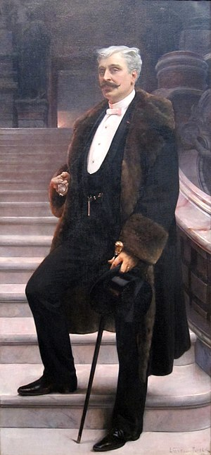 Lionel Royer - Portrait of Comte d'Adhémar de Cransac.  Oil on canvas, c. 1890, in the Dayton Art Institute
