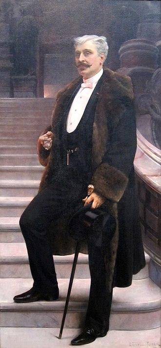 Lionel Royer - Portrait of Comte d'Adhémar de Cransac.  Oil on canvas, c. 1890, in the Dayton Art Institute