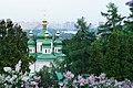 Вид из ботанического сада на Храм пророка Даниила.jpg