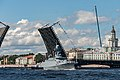 День ВМФ 2020 СПб. Малый ракетный корабль Великий Устюг 651 под мостом.jpg