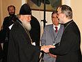 Конференция Синодальной богословской комиссии (2007). Митр. Кирилл (Гундяев) и свящ. Георгий Кочетков.jpg