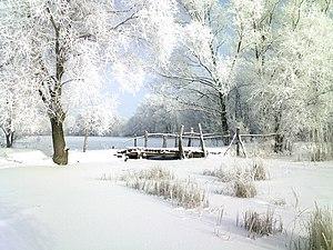 Мостик через озеро возле села Борки!Зима!.jpg