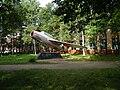 Самолет МИГ-15 возле здания Приморского авиационного техникума.JPG