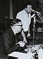 אבא אבן ויהודה אילן במסיבת עיתונאים 1961.jpg