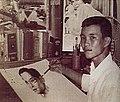 ทวีพงษ์ ลิมมากร วาดภาพในหลวงตั้งแต่อายุ 9 ขวบ.jpg
