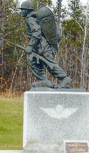 "André Gauthier (sculptor) - ""INTO ACTION"" (1988) by André D. Gauthier at CFB Petawawa Airborne Forces Museum"