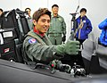 공군홍보대사 구자철 선수의 F-15K 하이택싱 체험 (8309635010).jpg