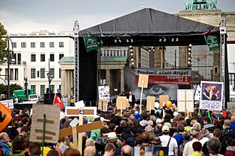 "Global surveillance - ""Stop Watching Us"" rally in Berlin, Germany, August 2014"